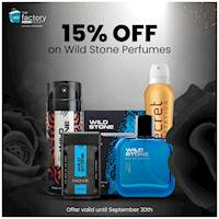 Enjoy 15% Off all Wild Stone Perfumes & Fragrances at TFO Havelock, Galle and Online