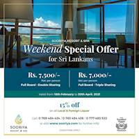 Sooriya Resort and Spa long weekend offer