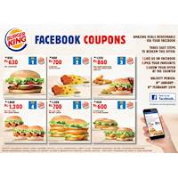Facebook Coupons at Burger King