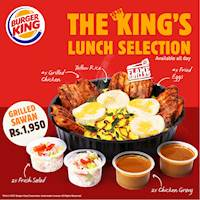 Grilled Sawan for Rs 1950 at Burger King