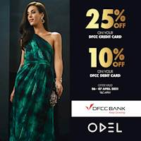 Get 25% off with DFCC credit Cards and 10% off with Debit Cards at Odel