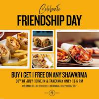Buy 1 get 1 FREE on shawarma at Arabian Knights