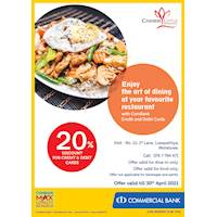 Enjoy 20% Discount for ComBank Credit and Debit Cards at Chinese Lotus