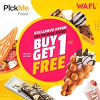Buy 1 Get 01 Free on PickMe Food at WAFL