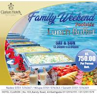 THE WEEKEND BUFFET at Hotel Clarion