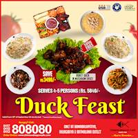 Free Duck Dish (Save Rs.3490) at Chinese Dragon Cafe! (80 dishes only)