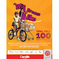 Shop at Cargills FoodCity & Stand a chance to win a free bike for your children