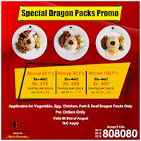 Special Dragon Packs Promo at Chinese Dragon Cafe