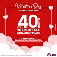 The best way to celebrate this season of love is with amazing deals from Abans!