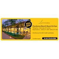 55 % Discount for BOC credit card holders at Pandanus Beach Resort and Spa