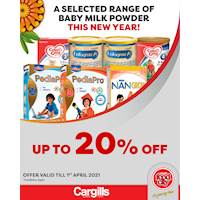 Get up to 20% Off on selected Baby Milk Powder at Cargills FoodCity!