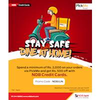 Enjoy this special offer from Pick Me with your NDB Credit Card!