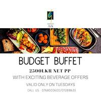 Budget buffet is back on every Tuesdays with some exciting beverage offers at Garton's Art