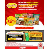 Enjoy the BIGGEST SAVINGS on Selected Noodles & Soya Products When You Order Through Cargills Outlet 2 Home!