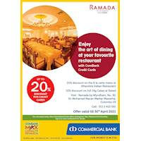Enjoy up to 20% Off with ComBank Credit Cards at Ramada