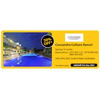 Get 50% off at Cassandra Culture Resort for BOC Credit and Debit Cards
