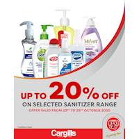 Get up to 20% off on selected hand sanitizers at Cargills Food City