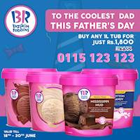 Buy any 1litre of tub of your choice for just Rs. 1,800/- at Baskin Robbins