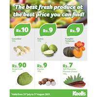 Offering the best prices this weekend for fresh veggies and fruits at Keells!