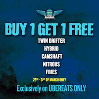 Buy 1 Get 1 Free at Street Burger on Uber Eats