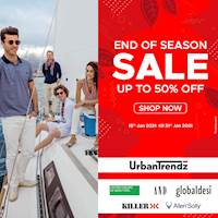 Enjoy up to 50% OFF for END OF SEASON SALE at UrbanTrendz