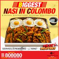 Biggest Nasi in Colombo (Rs. 1590/ for 3) at Chinese Dragon Cafe!