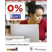 Enjoy up to 12 months 0% Easy Payment Plans at ESOFT with DFCC Credit Cards!