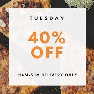 Tuesday Deal - Get 40% Off from Harpo's Pizza