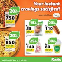 Enjoy up to 30% off when you order a range of selected food from Keells this week