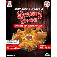 Enjoy a Savoury Sawan only for WEB ORDERS via www.kfc.lk