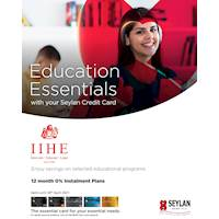 Enjoy savings on selected educational programs at IIHE with your Seylan Credit Card