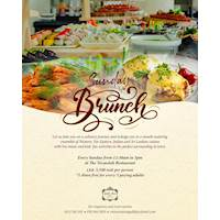 Sunday Brunch - 1 dines free for every 3 paying adults at The Verandah Restaurant Galle Face Hotel