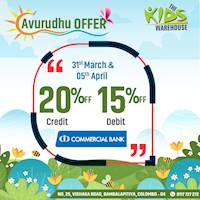 Get up to 20% Off at The Kids Warehouse for Combank Credit and Debit Cards