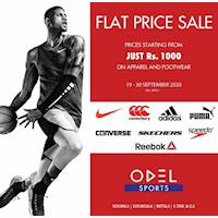 Flat Price Sale,prices starting from Rs 1000 on Apparel and footwear at Odel Sports