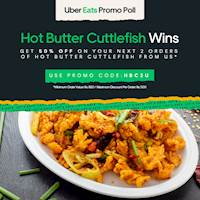 Hot Butter Cuttle Fish- 50% Off at Ceylon City Hotel, Colombo