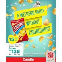 Get 15% Off on Lorenz Crunchips Salted 250g at Cargills FoodCity!