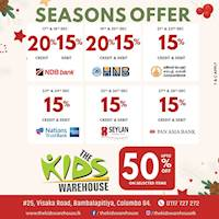 Seasonal Offers for bank cards at The Kids Warehouse