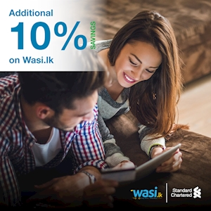 Additional 10% Off on Wasi.lk for Standard Chartered Cards