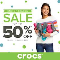UP-TO 50% OFF AT CROCS! From 15th July to 15th August