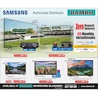 World renowned Samsung Appliances at Damro ! Zero deposit interest free easy payment terms up to 60 Months