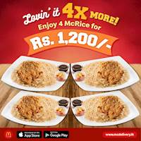 Get 4 McRice for just Rs.1,200 at McDonald's!