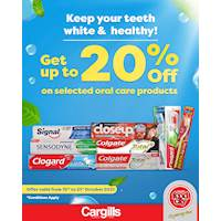 Get up to 20% OFF on selected oral care products at Cargills FoodCity