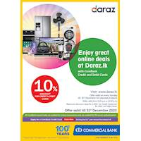 Get Up To 10 % Off on every Sundays for the selected products at Daraz.lk with ComBank Credit Cards