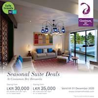Seasonal suite deals at Cinnamon Bey Beruwala!