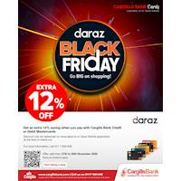 Enjoy an extra 12% savings on purchases at the Daraz Black Friday Sale for Cargills Bank Mastercards