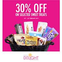 30% off on Selected Sweet treats at Odel