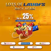 Get up to 25% Off on Selected Credit and Debit Cards at LAUGFS Super