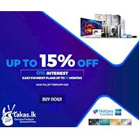 Get up to 15% off and 0% Interest easy payment plans up to 12 months on your AMEX CARD at Takas.lk