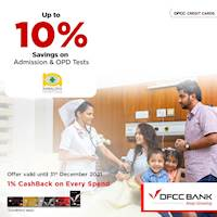 Up to 10% savings on Admission & OPD Tests at Nawaloka Hospitals with DFCC Credit Cards!