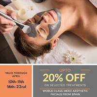 Discounts up to 20% off on selected treatments, including on world renowned Meso Aesthetic skincare procedures from Spain at Christell Skin Clinic